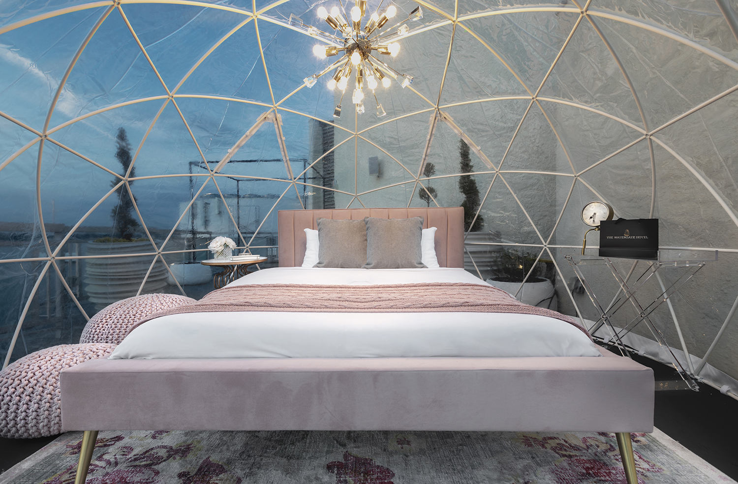 The Glamping With the Stars package allows guests to sleep overnight in a glamping globe outfitted by Terra Glamping.