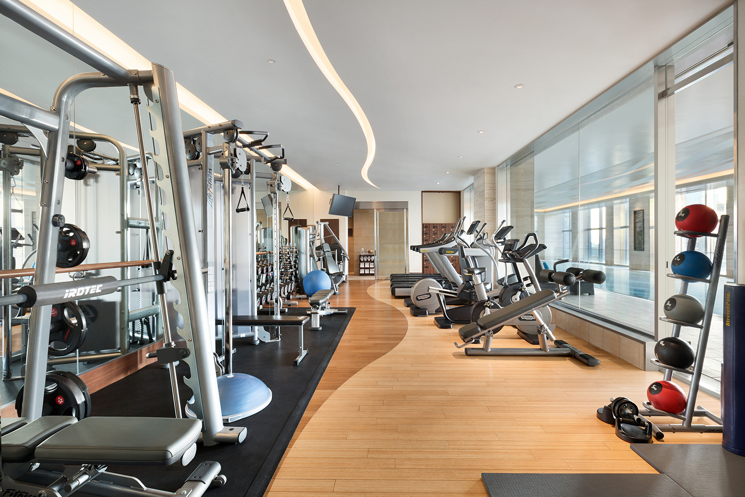 The hotel's fitness center.