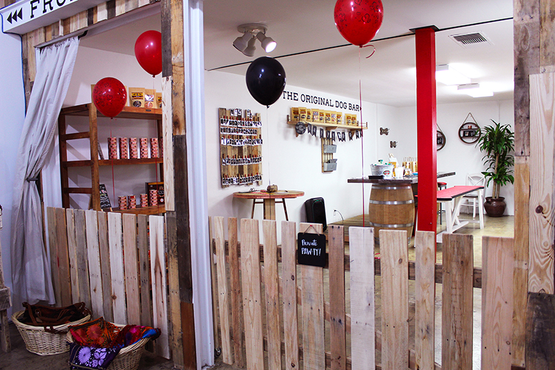 Customers can also host parties for their dogs at the store, complete with games, toys, and treats.