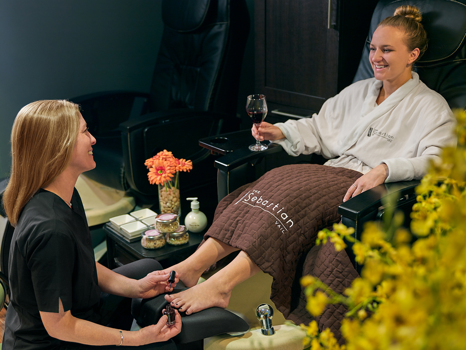 Bloom Spa also offers signature manicures and pedicures.