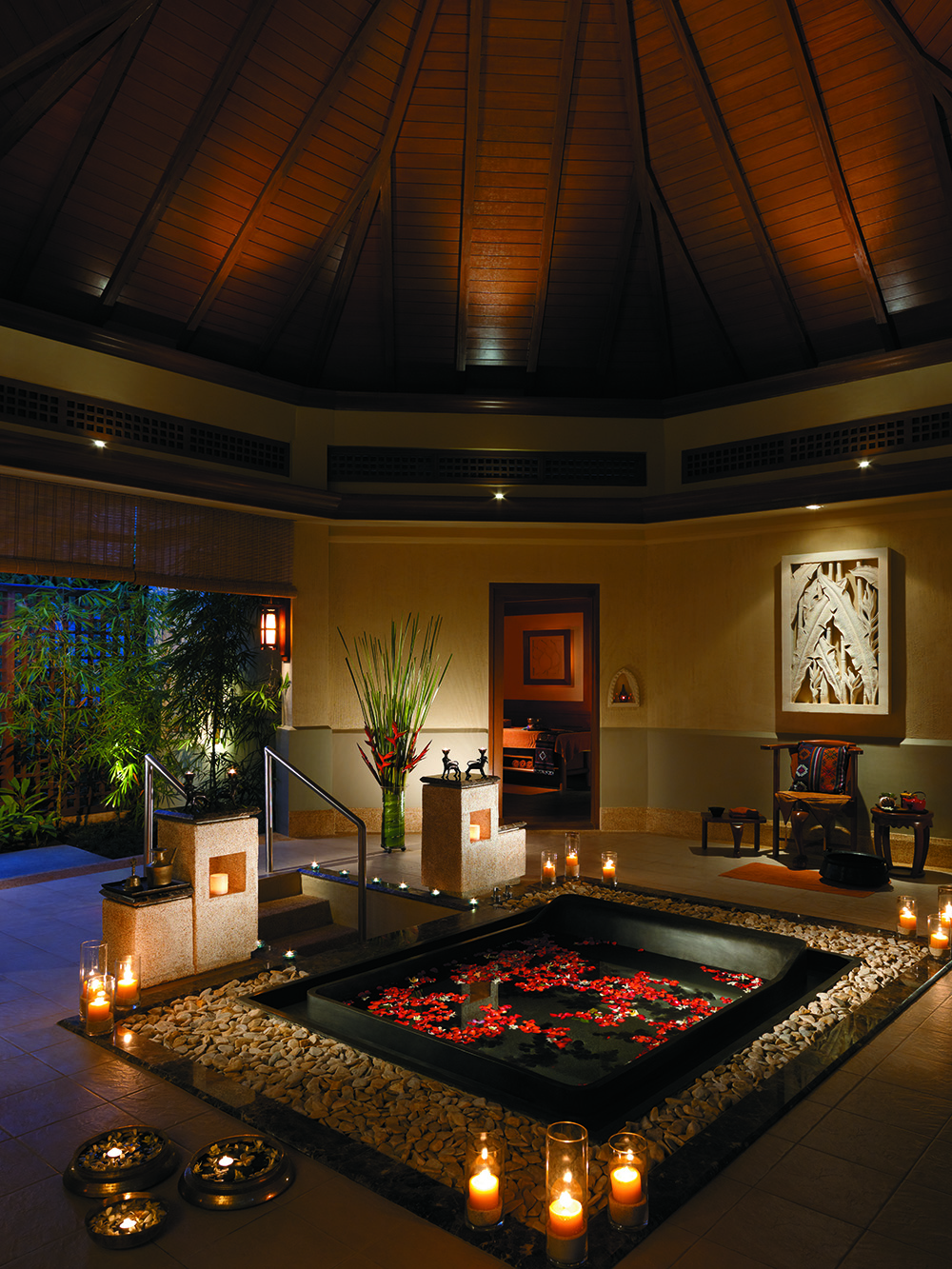 Spa villa bath.