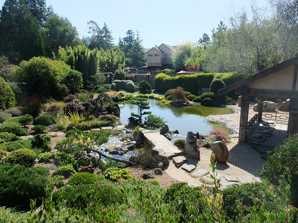 The Japanese-style gardens at Osmosis Day Spa Sanctuary.