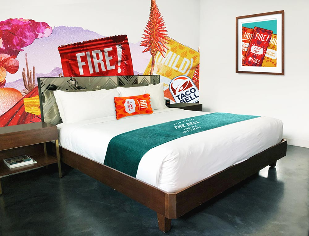 King Room at the Taco Bell Hotel and Resort.