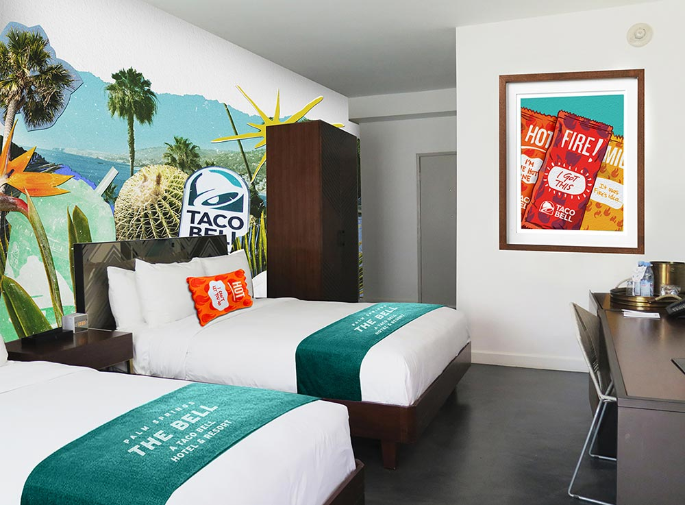 Double Room at the Taco Bell Hotel and Resort.