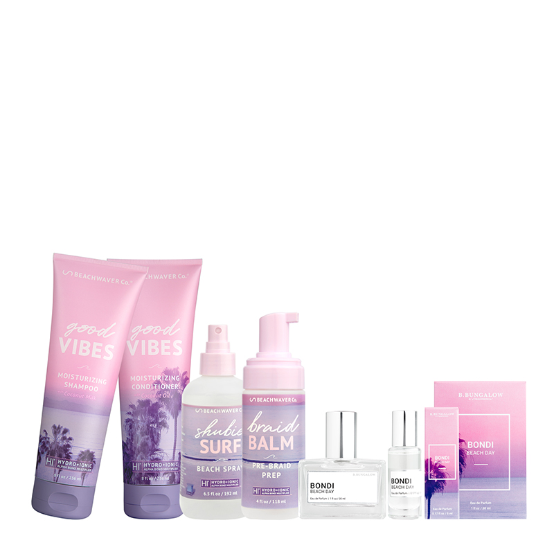 The Make Waves collection features a line of beach-inspired products that help create texture and enhance natural waves.