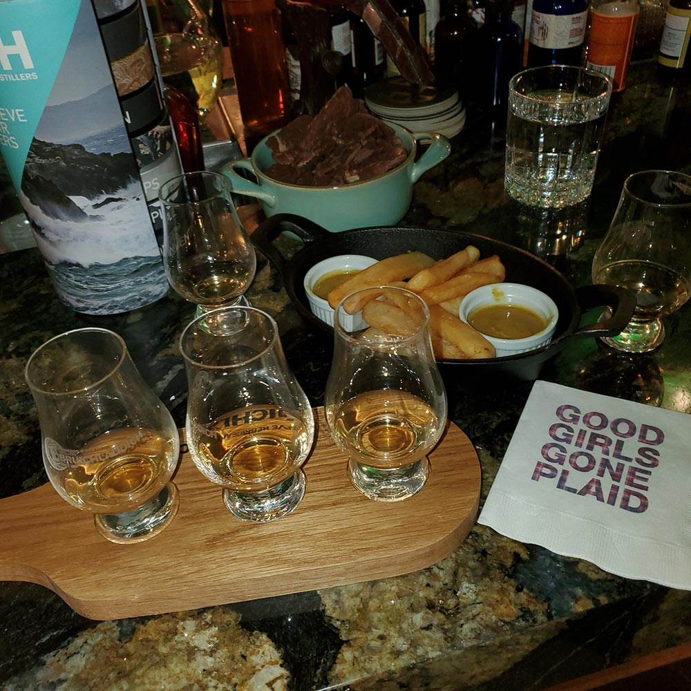 We enjoyed a whiskey tasting as part of the festivities.