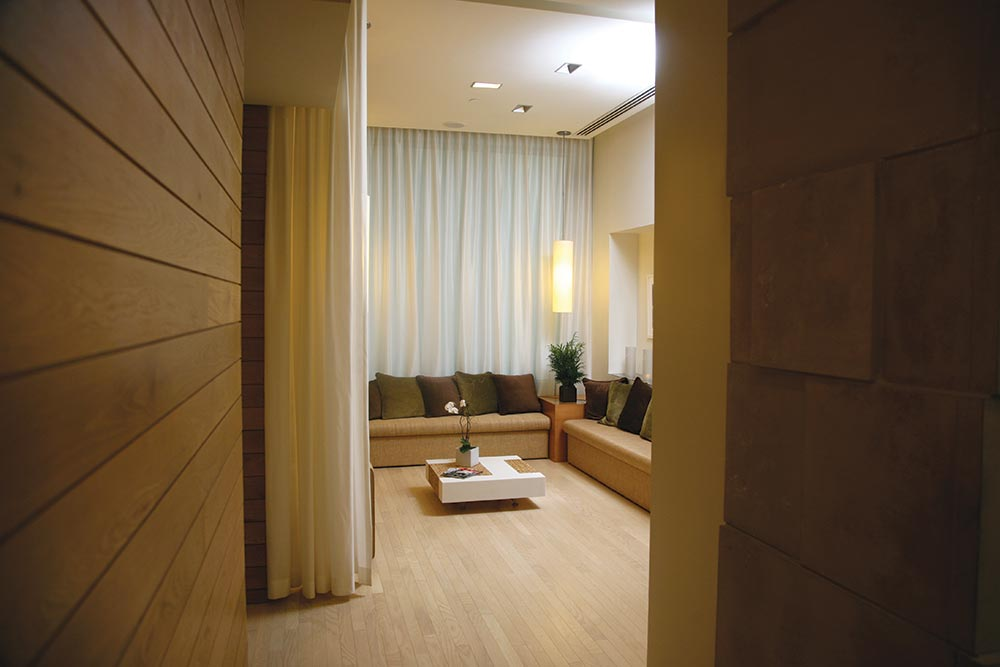 Nusta Spa's relaxation lounge.