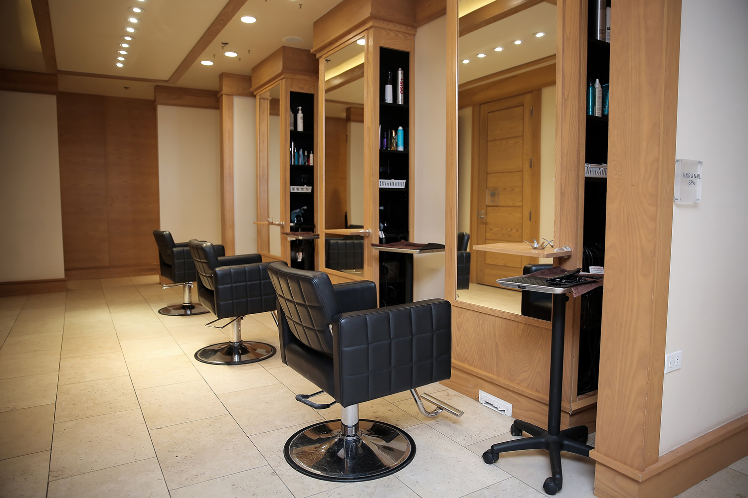 The spa also has a full-service hair and nail salon.