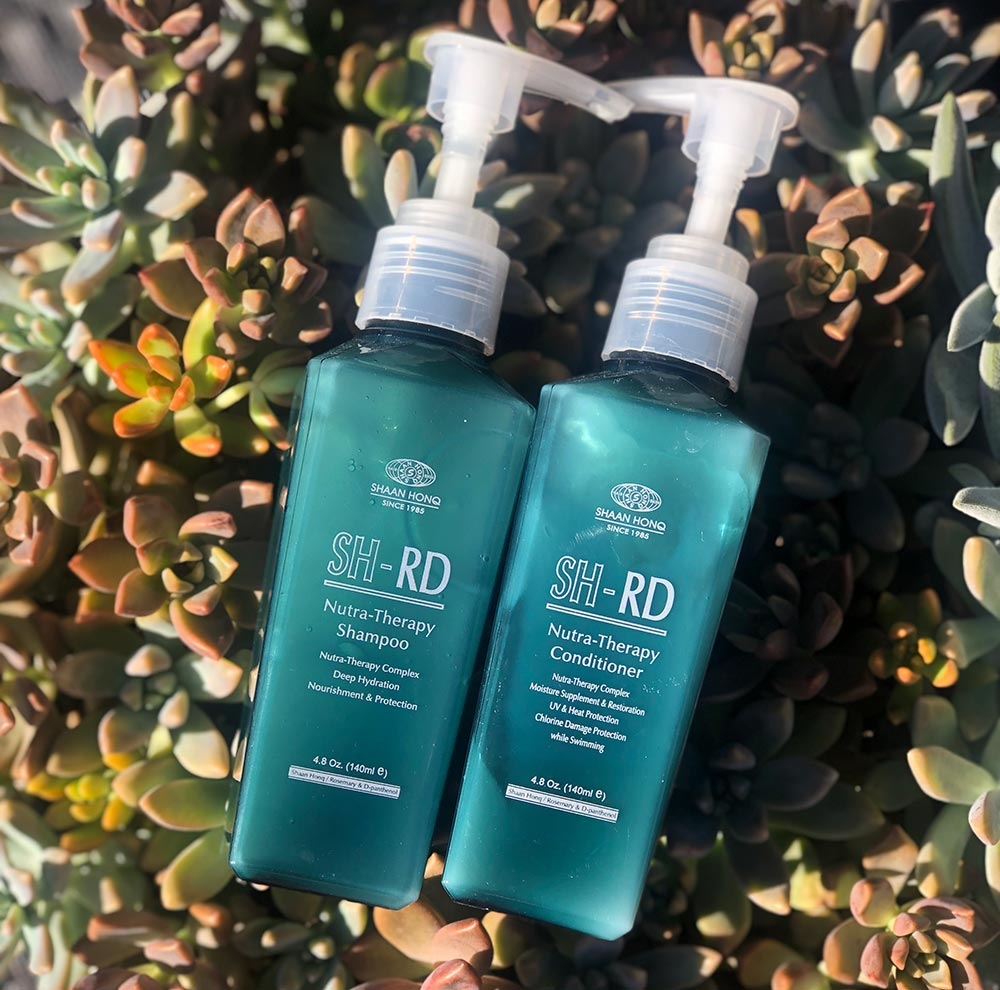 SH-RD Shampoo ($35) cleans your hair gently without drying it out, while SH-RD Conditioner ($35) moisturizes and repairs.