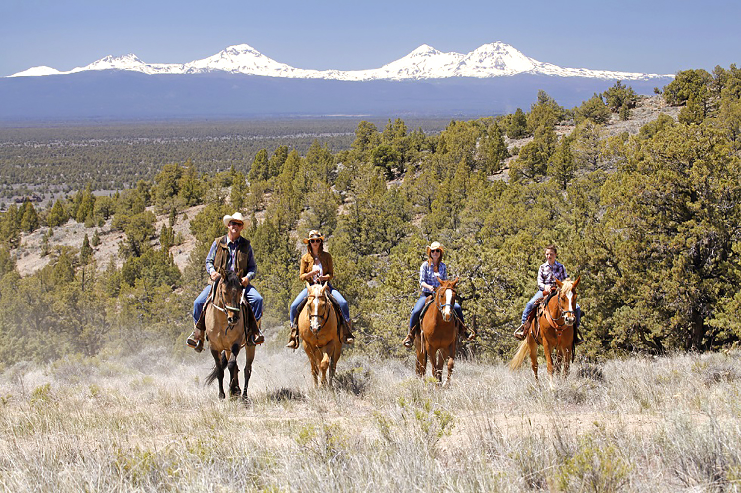 Discover the historic ranch on horseback and ride deep into fields of juniper and sage with the snow-capped Cascades as a backdrop.