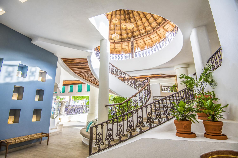The staircase at Panama Jack Resorts Playa del Carmen.
