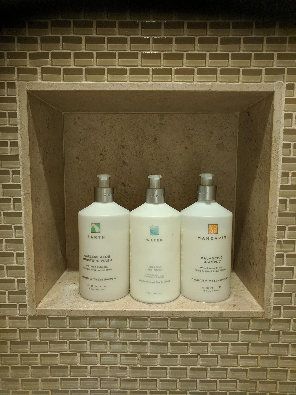 Zents products elevate the aromatic experience throughout the spa.