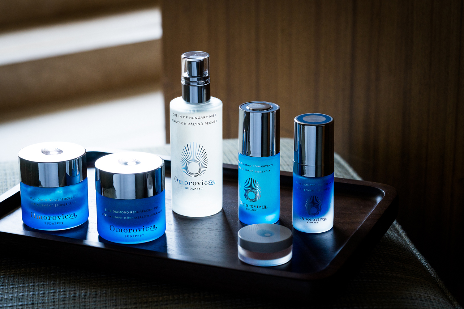 The spa carries Omorovicza skincare products.