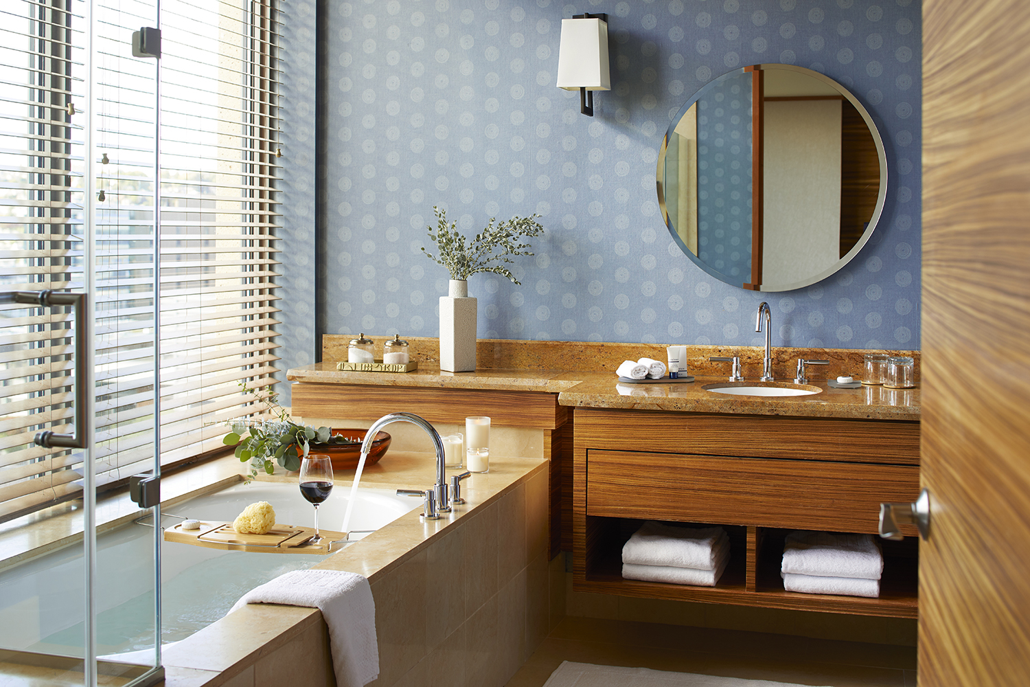 Pan Pacific Seattle launched an in-room bath bar stocked with local, sustainable beauty products such as  Follian  soaps and scrubs for the oversized soaking tubs.