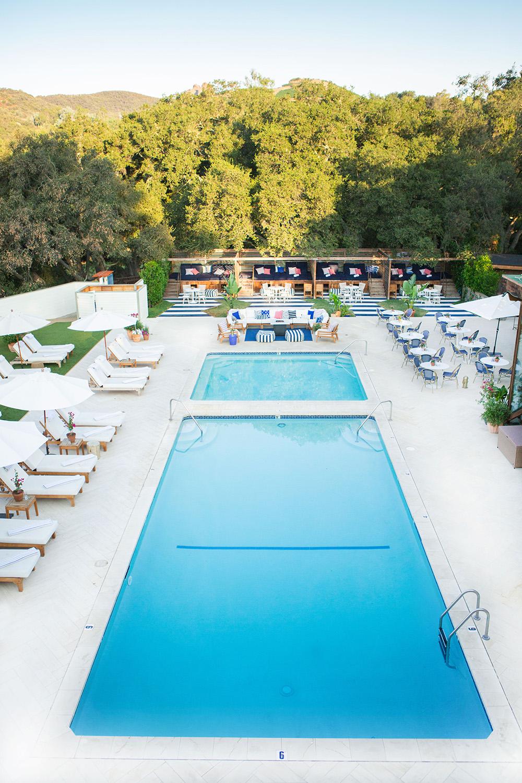 The main pool at Calamigos Guest Ranch and Beach Club.