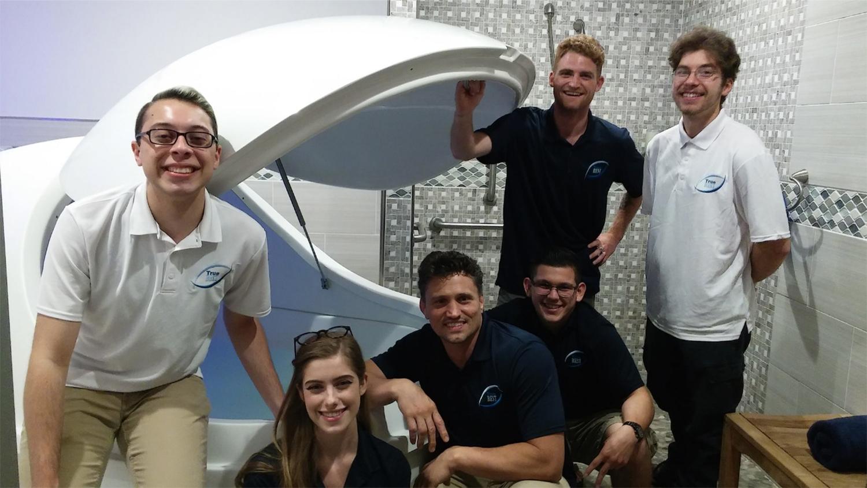 True REST Float Spa team members.