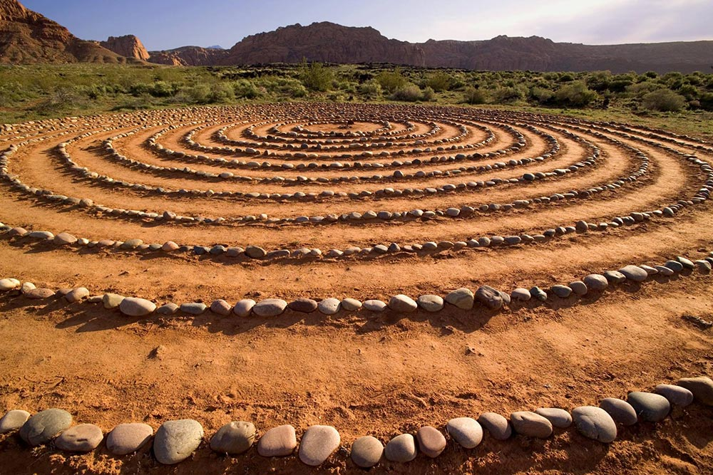 Rock labyrinth at Red Mountain Resort.