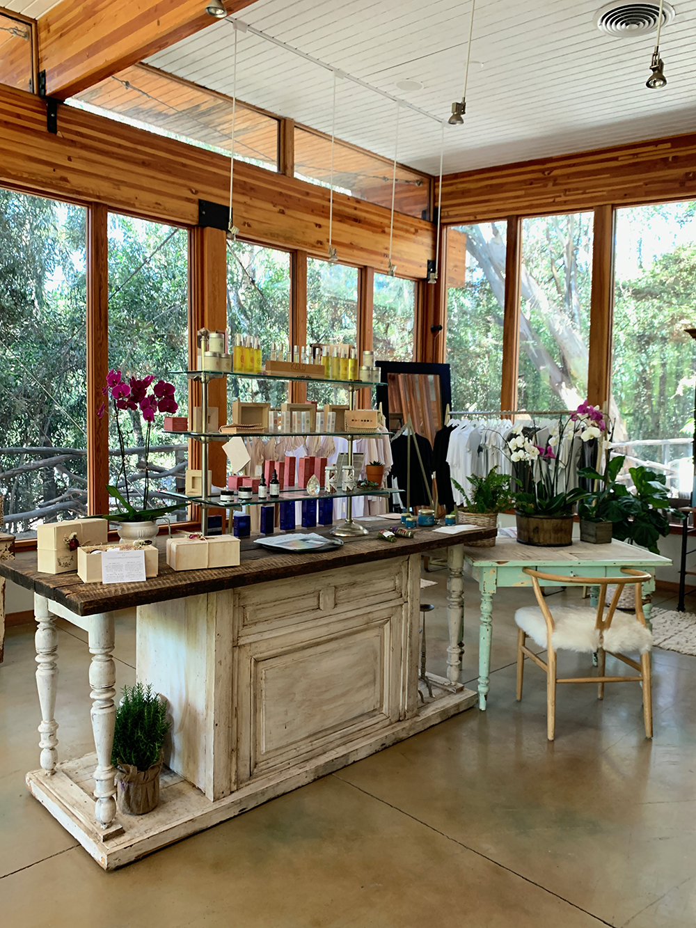 The spa's retail boutique.