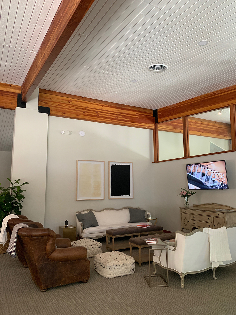 One of the sitting areas in the lounge.