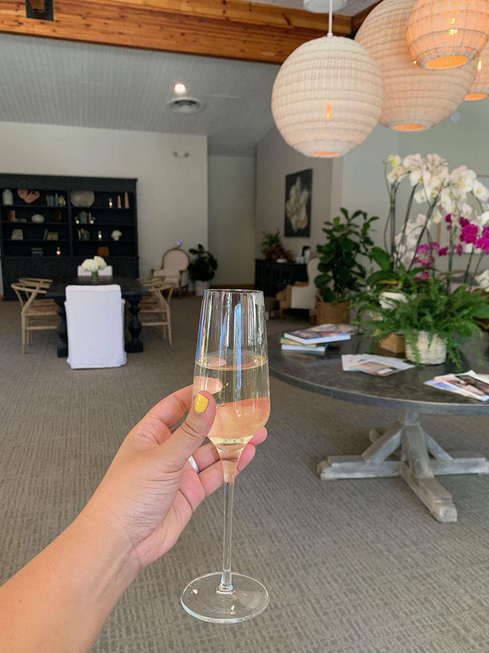 I enjoyed a glass of complimentary champagne prior to my treatments.