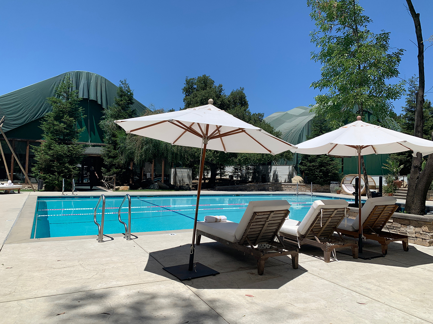 The Spa Pool is located between the gym and spa.