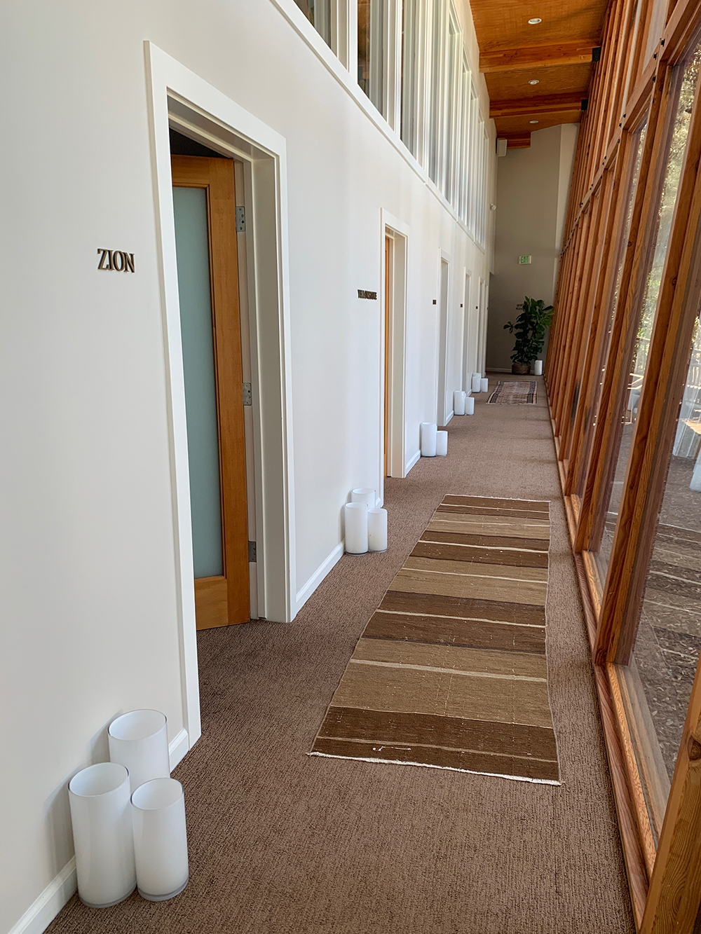 All of the spa's treatment rooms are named after national parks.