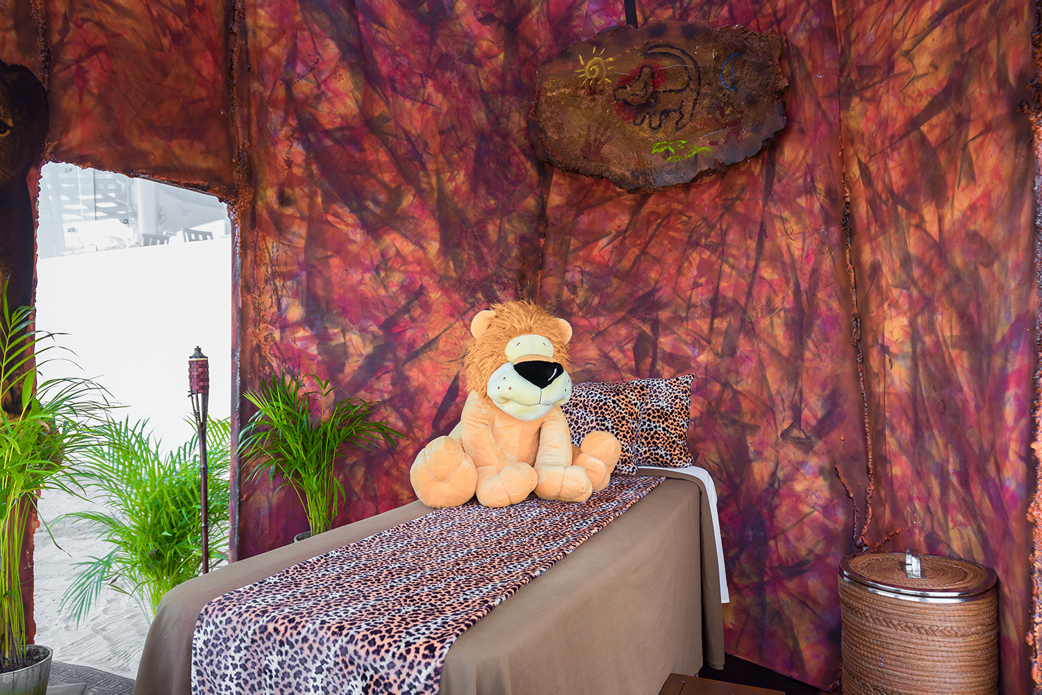 The Lion King Spa Cabana will be available through the first week of August.