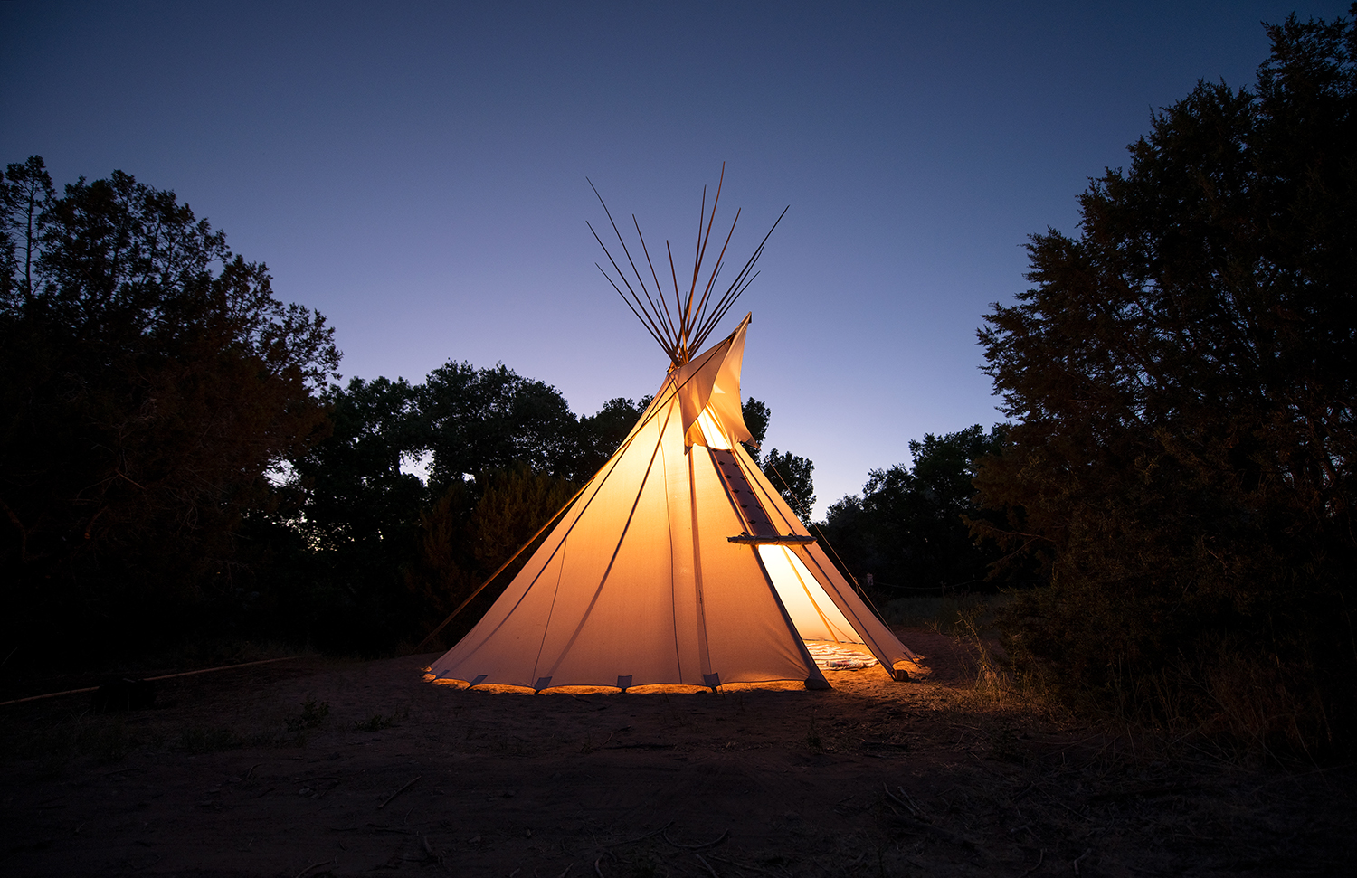 Located in an all-natural spring-fed setting in Santa Fe, New Mexico, Sunrise Springs Spa Resort recently launched Native American-themed programming.
