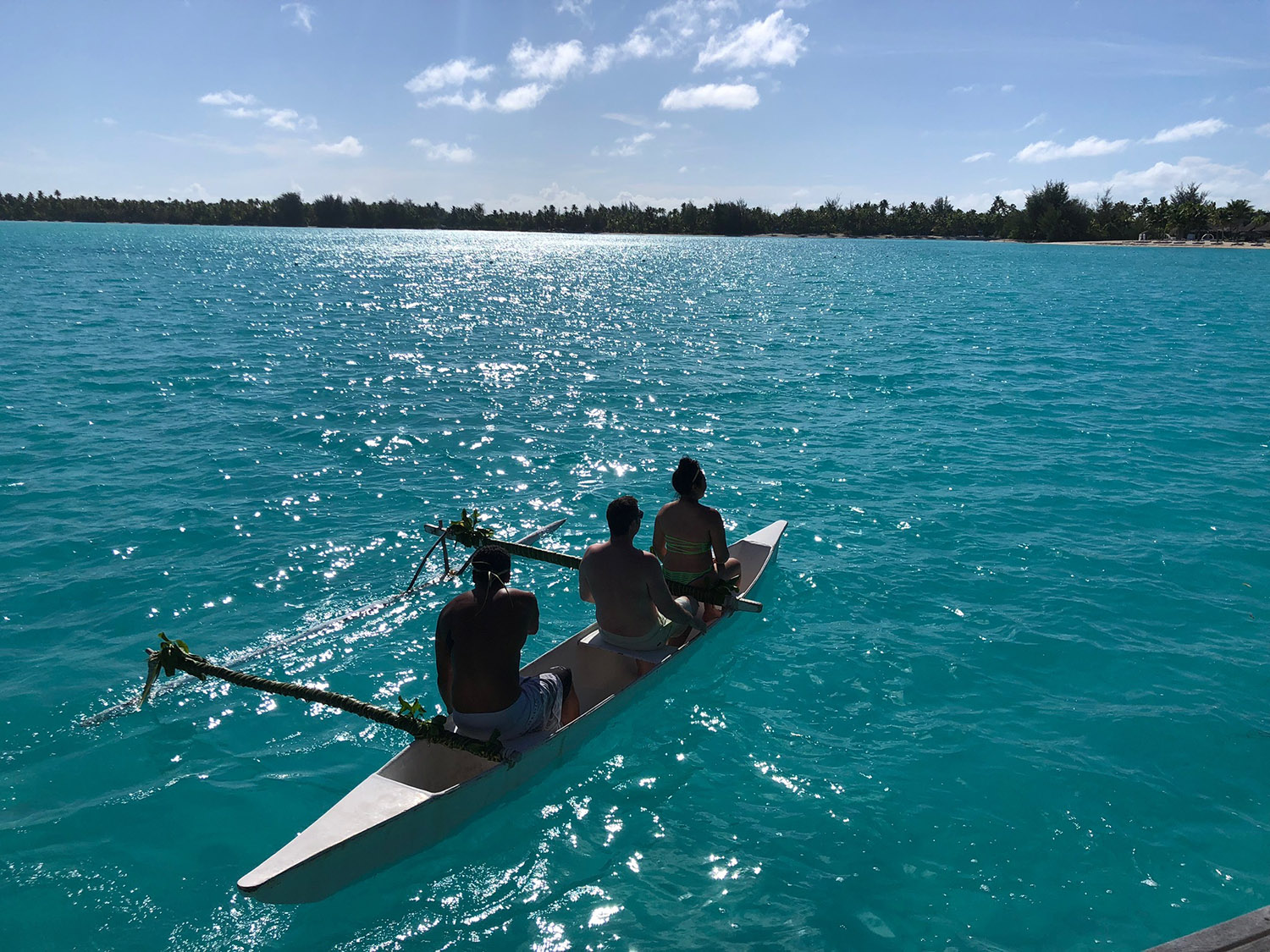 The Canoe Breakfast includes a ride around the lagoon.