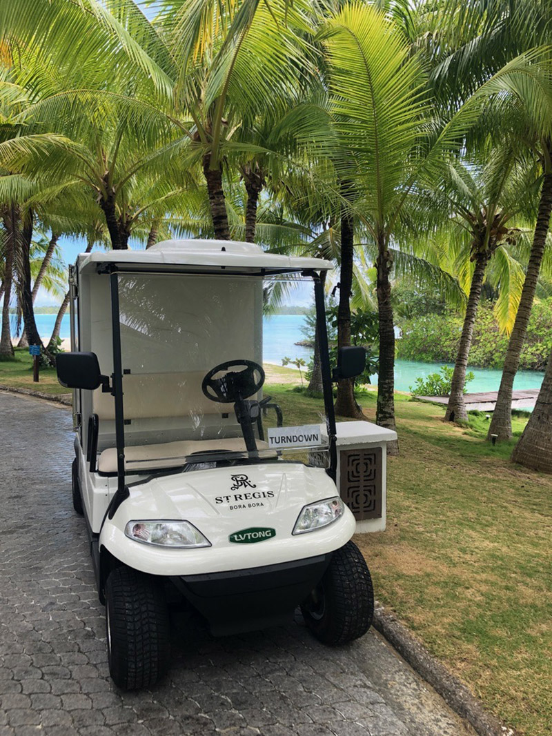 Resort guests have access to complimentary transportation by golf cart throughout the property.