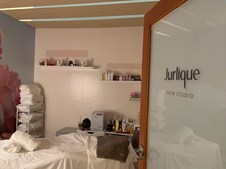 Jurlique Skin Studio features a cozy treatment room.