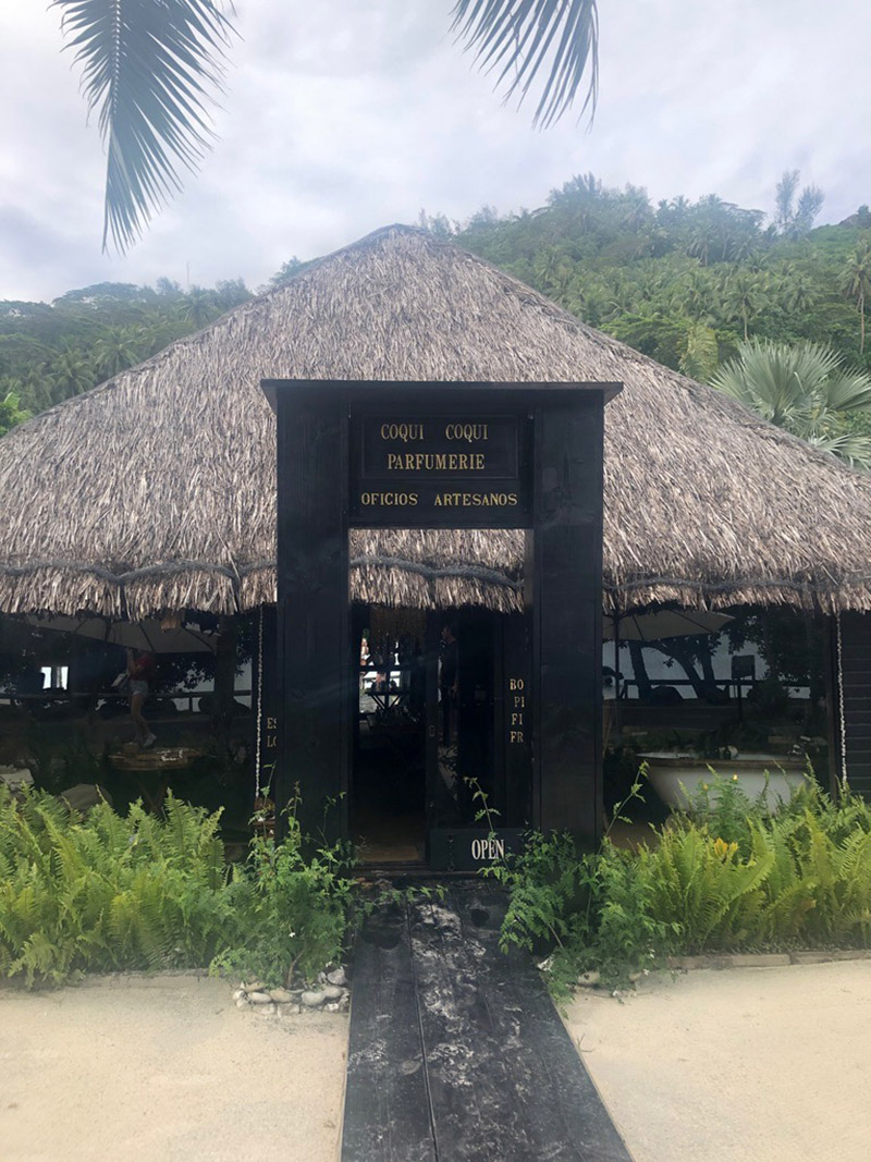 The Coqui Coqui Beach Boutique in Bora Bora.