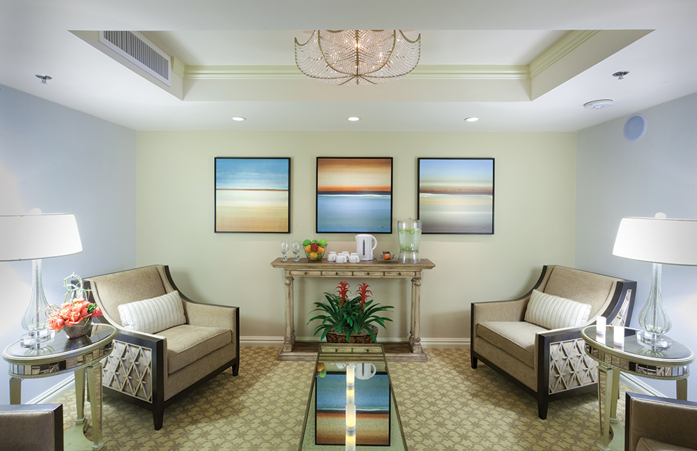 Relaxation Room at The Spa at Windsor Court.