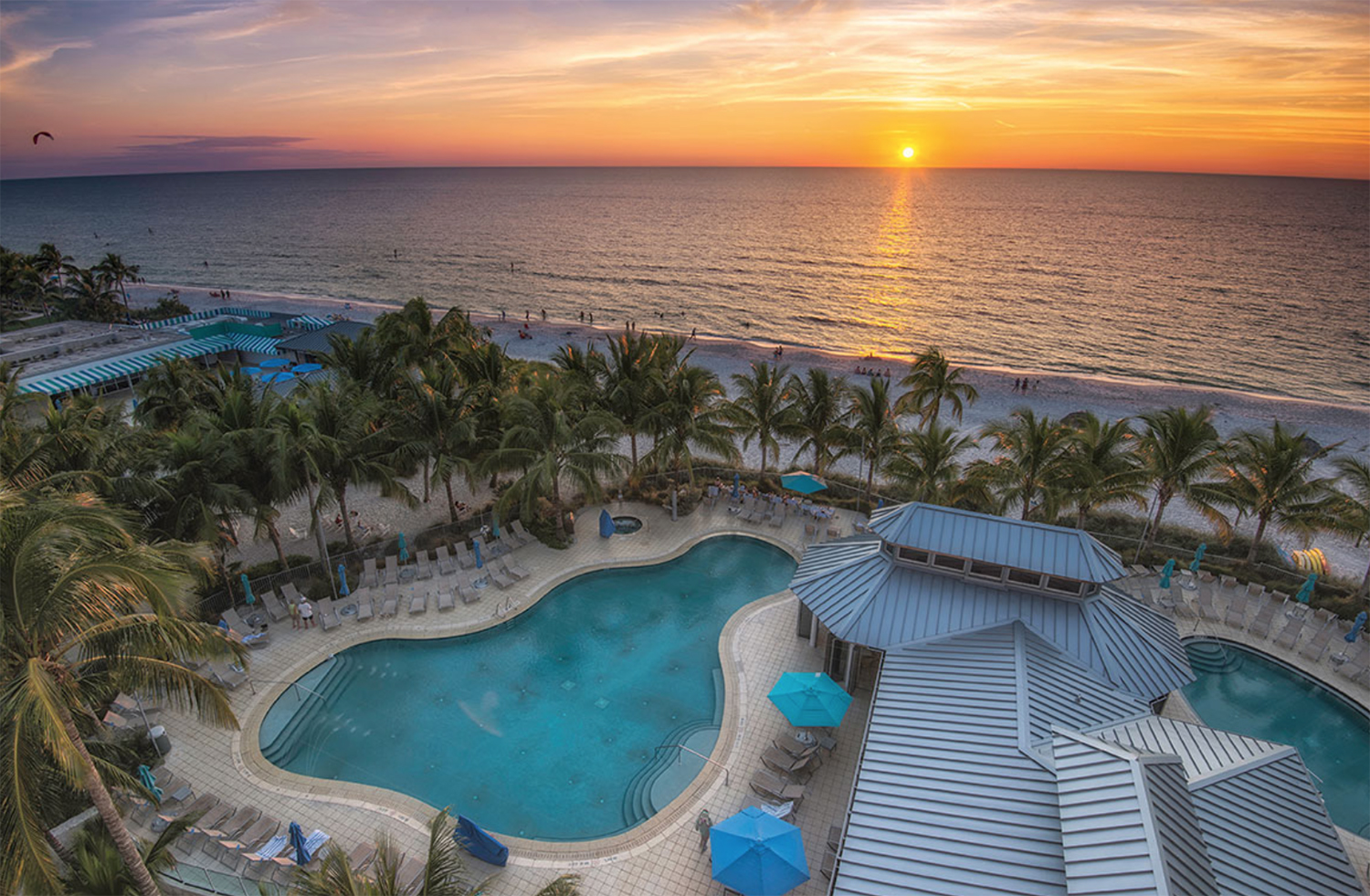 The Naples Beach Hotel & Golf Club is a stunning 319-room resort with a par-71 championship golf course.