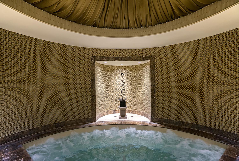 The spa whirlpool.