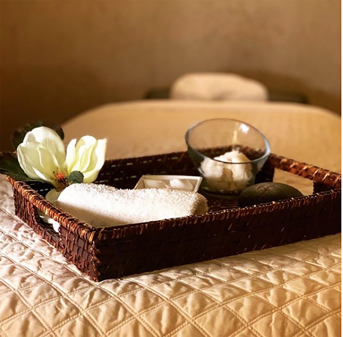 One of the spa's treatment rooms.