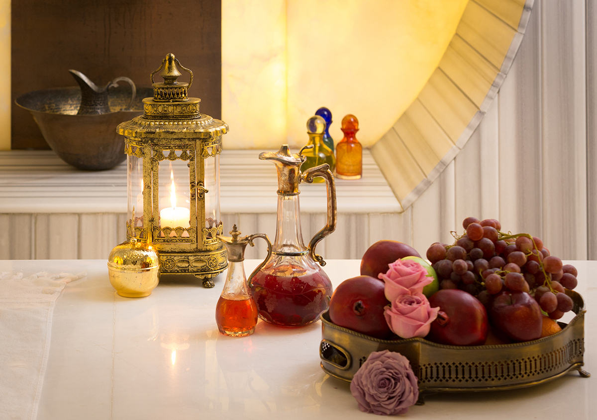 The Raffles Istanbul Family Hammam Experience includes seasonal fruits, tea and coffee, and more in the lounge area.