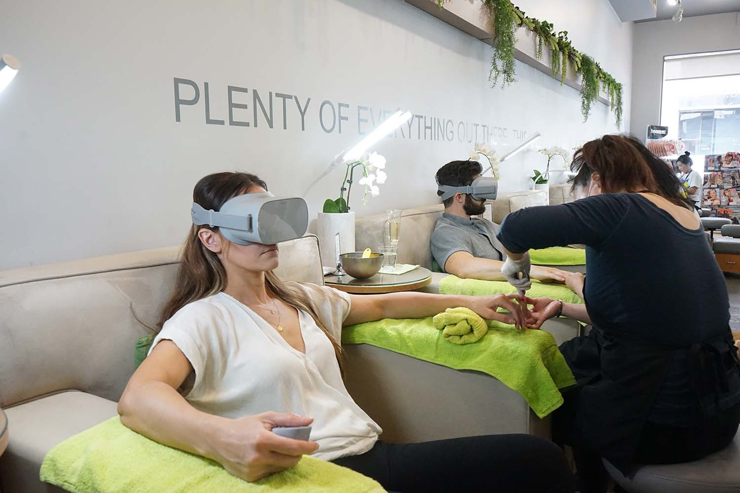 Bellacures introduces the first-ever Virtual Reality Mani Pedi experience.