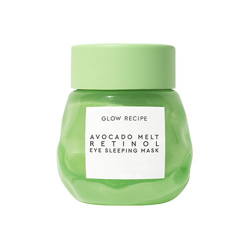 Glow Recipe Avocado Melt Retinol Eye Sleeping Mask smoothes and brightens the appearance of dark circles while nourishing the eye area with avocado, encapsulated retinol, and coffeeberry.