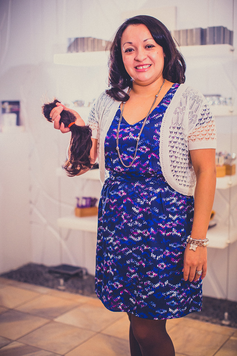 Sonia Lopez donated several inches of her hair in 2018 to support breast cancer patients.