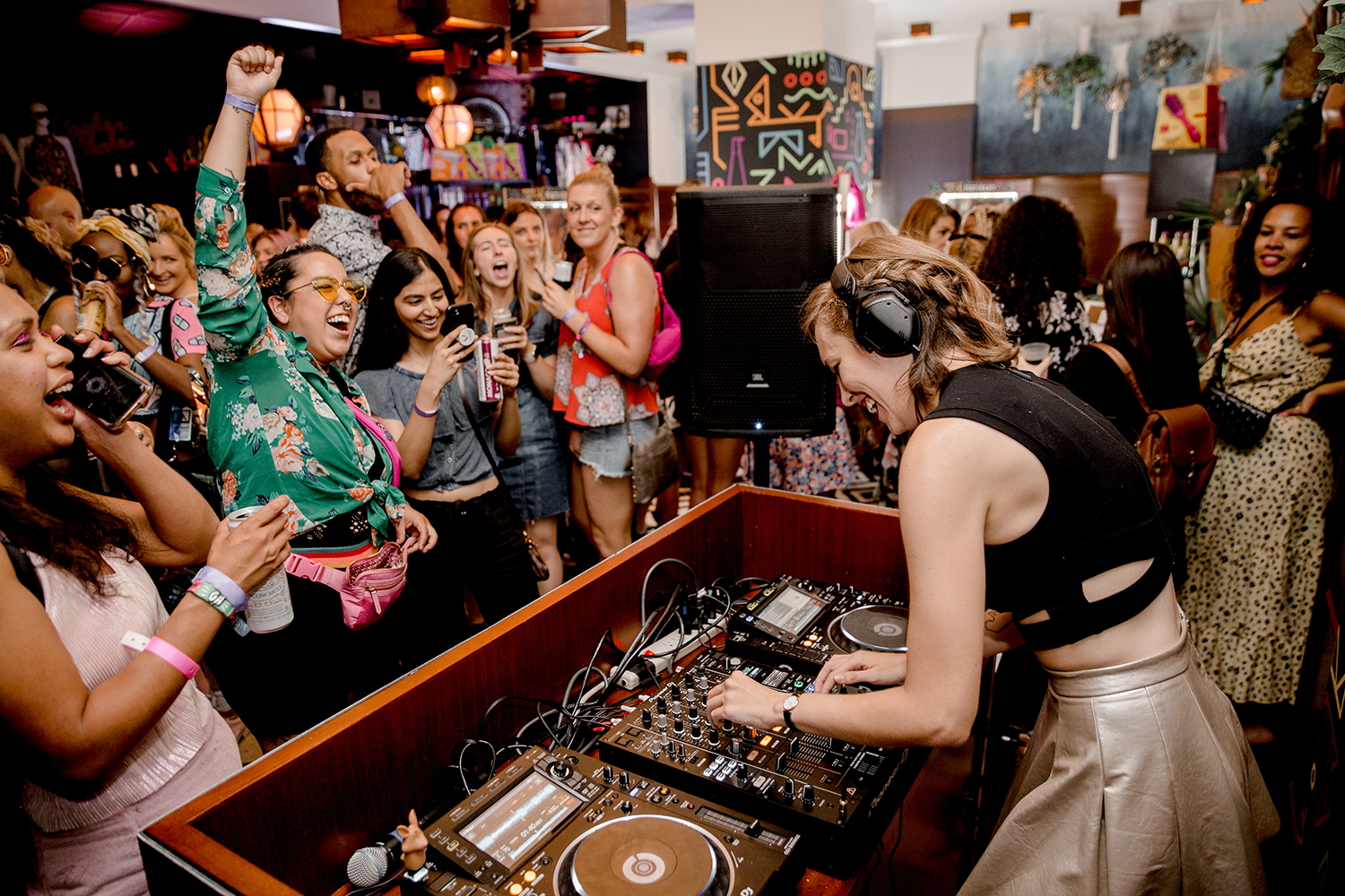The event included specialty drinks and live DJs, and more.