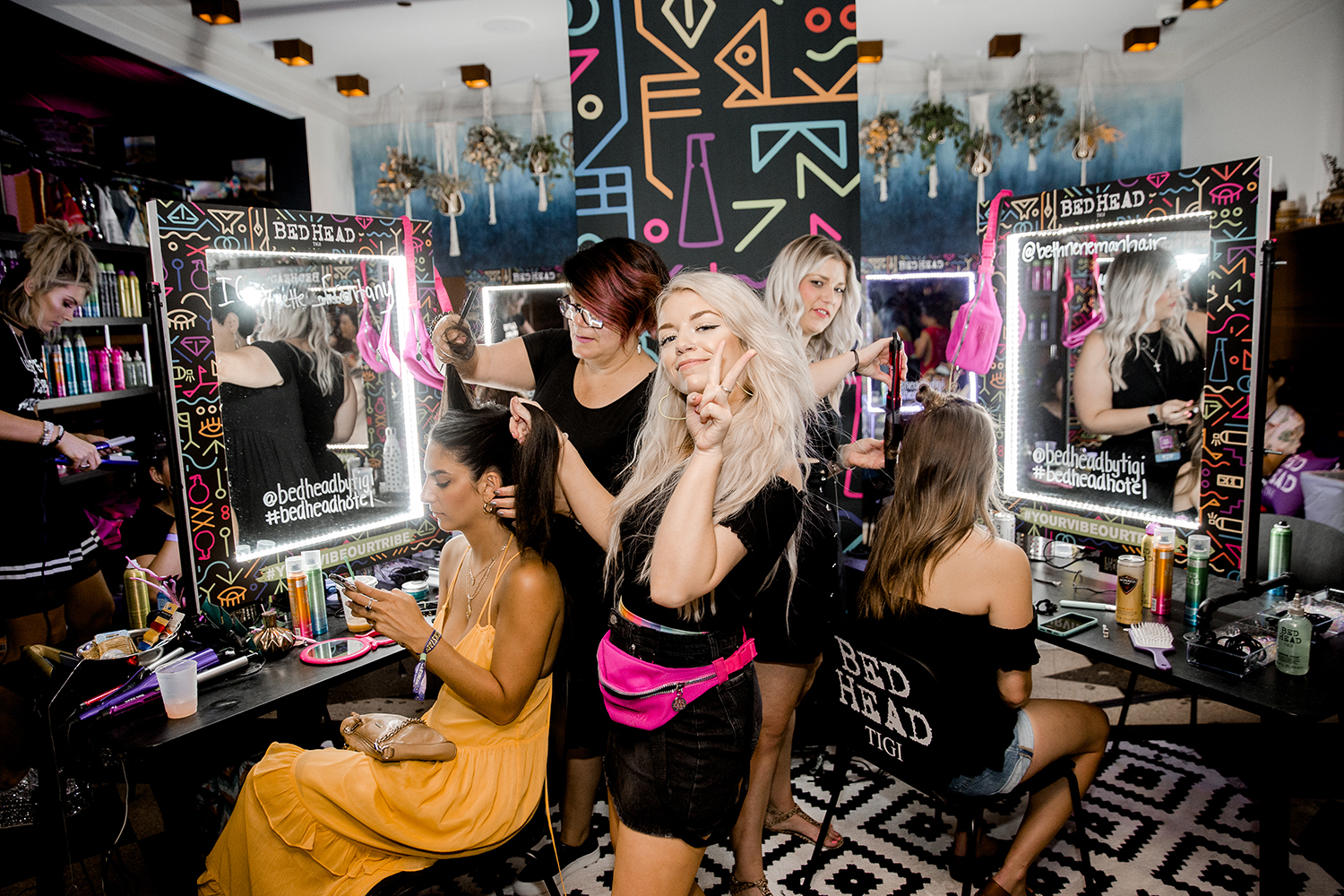 Event guests enjoyed complimentary hairstyling by Bed Head using the brand's top selling stylers, including their two new maximum-performance hairsprays with breakthrough compression technology, Lightheaded™ and Showdown™.