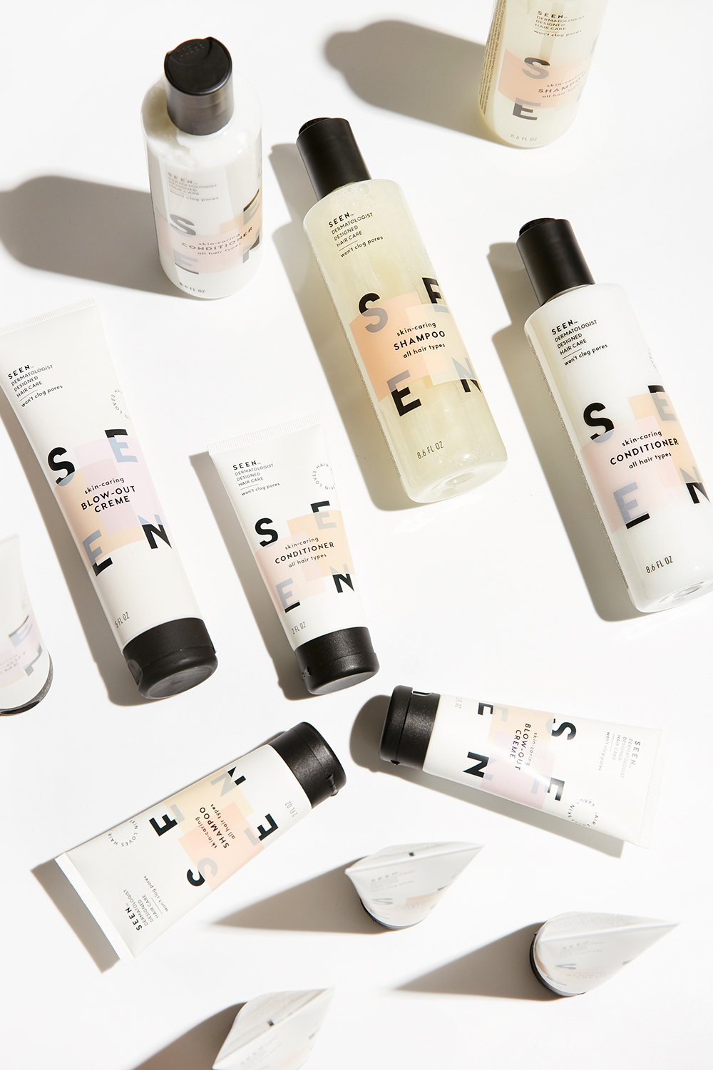 SEEN Hair Care was founded by Harvard-trained dermatologist Dr. Iris Rubin, and all the products are tested and proven to not clog pores or cause breakouts.