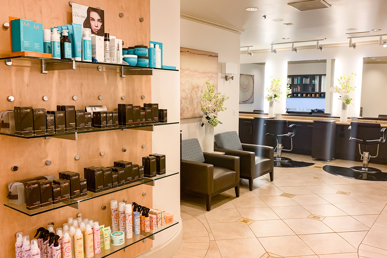 There is also a full-service hair and beauty salon.