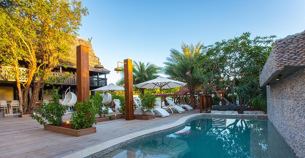 Outdoor pool at Zemi Thai House Spa.
