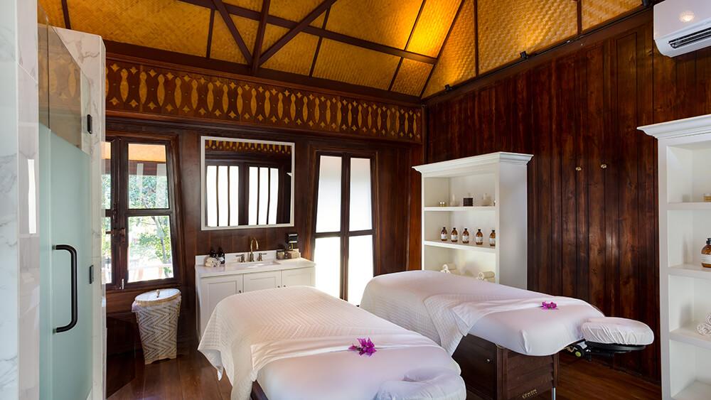 Couples' treatment room at Zemi Thai House Spa.