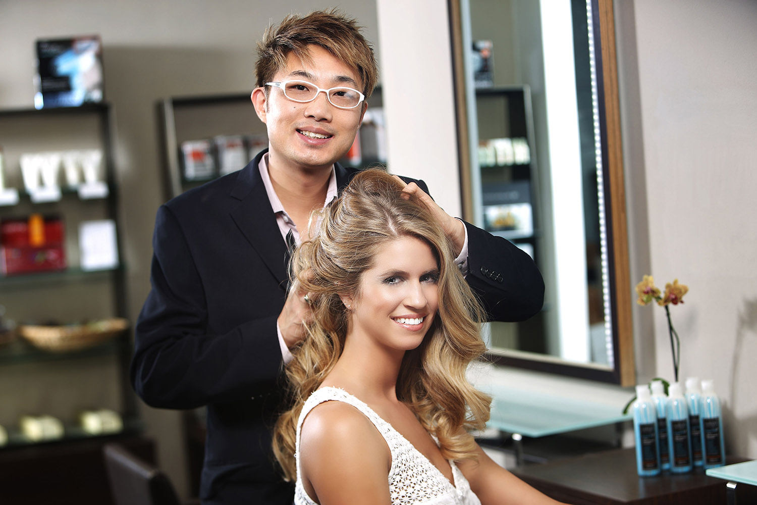 Nelson j. Salon owner and celebrity stylist Nelson Chan.