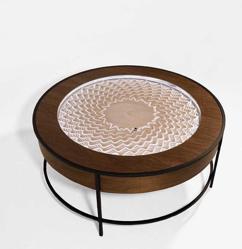 Sisyphus Industries has married art and furniture design with technology by designing unique tables that function as in-home kinetic art sculptures.