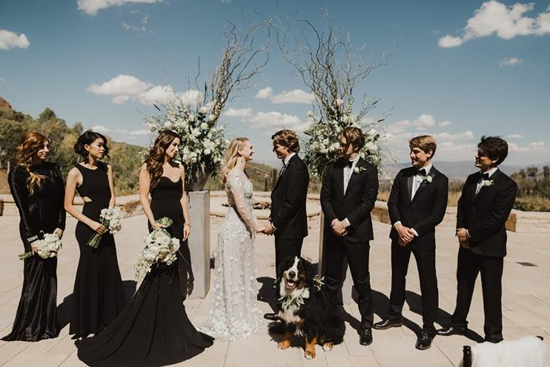 A canine ambassador joins a wedding at Montage Deer Valley.