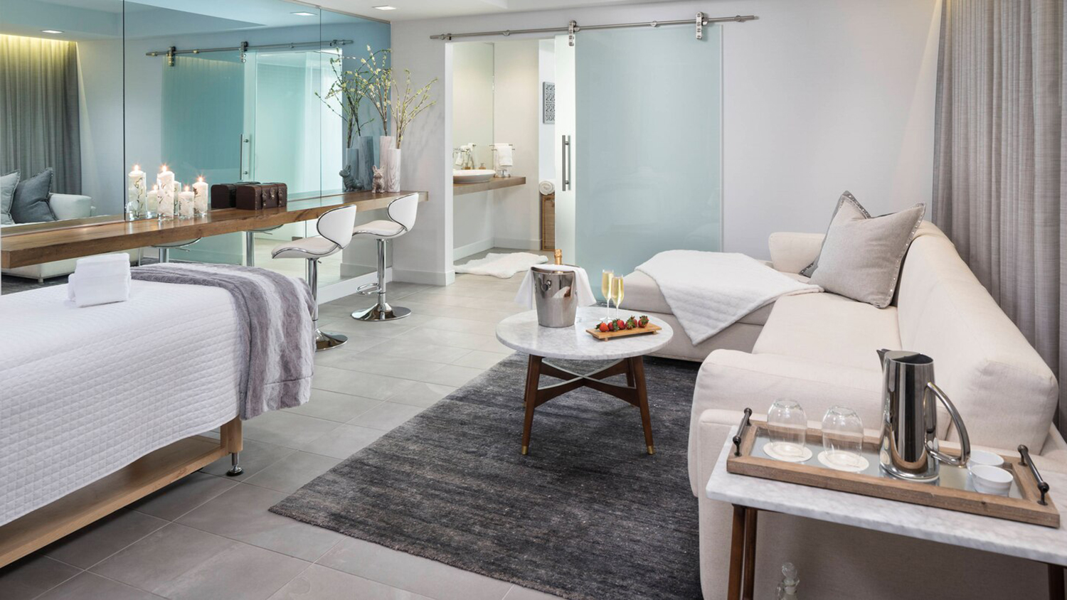 The Spa Suite treatment and relaxation area.